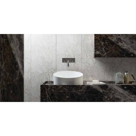 Design circular standing washbasin made100 % in Italy, Dubino