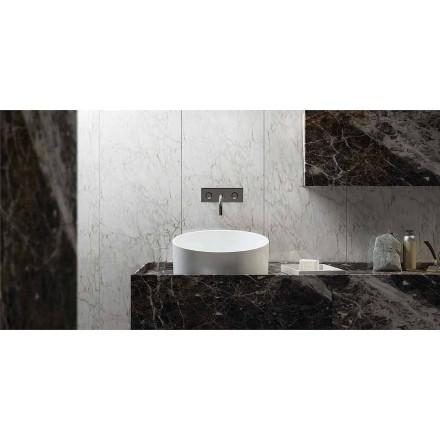 Design circular standing washbasin made100 % in Italy, Dubino
