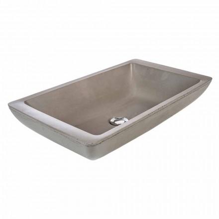Handmade design countertop washbasin in cement Rivoli