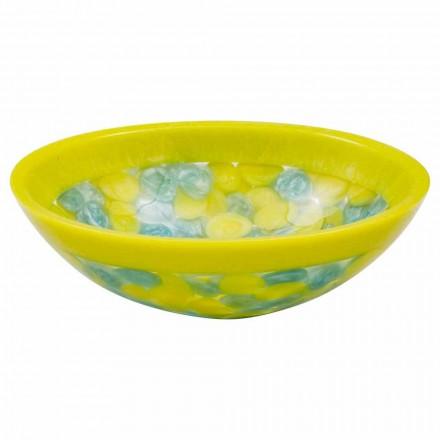 Design handmade countertop washbasin in resin, Buglio, unique piece