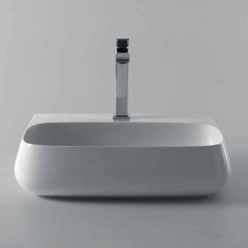 Countertop or wall hung sink in ceramic L 55cm made in Italy, Gais