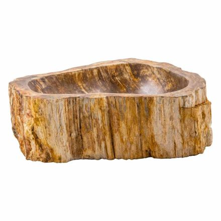 Countertop washbasin made of fossil wood, Nibionno, unique piece