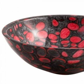 Design round countertop sink handmade in resin, Butera
