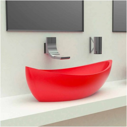 Modern design Solid Surface basin Sashimi, made in Italy
