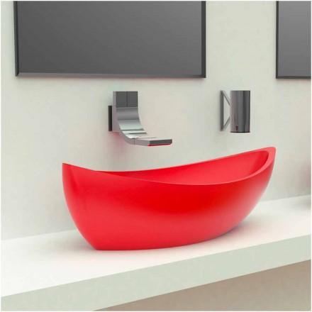 Modern design Solid Surface basin Sashimi, made in Italy