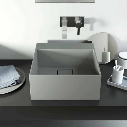 Modern design countertop  washbasin produced 100 % in Italy, Lavis
