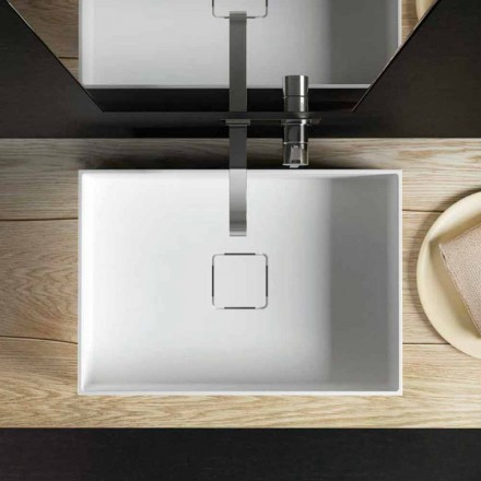 Modern design countertop sink, produced 100 % in Italy, Lavis