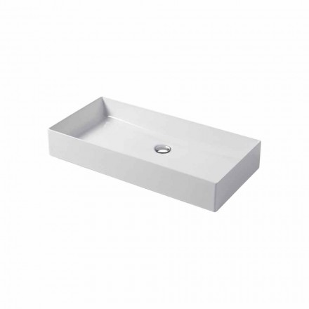 Design countertop sink in white or colored ceramic Leivi