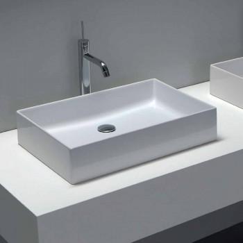 Design washstand in white ceramic or colored Leivi