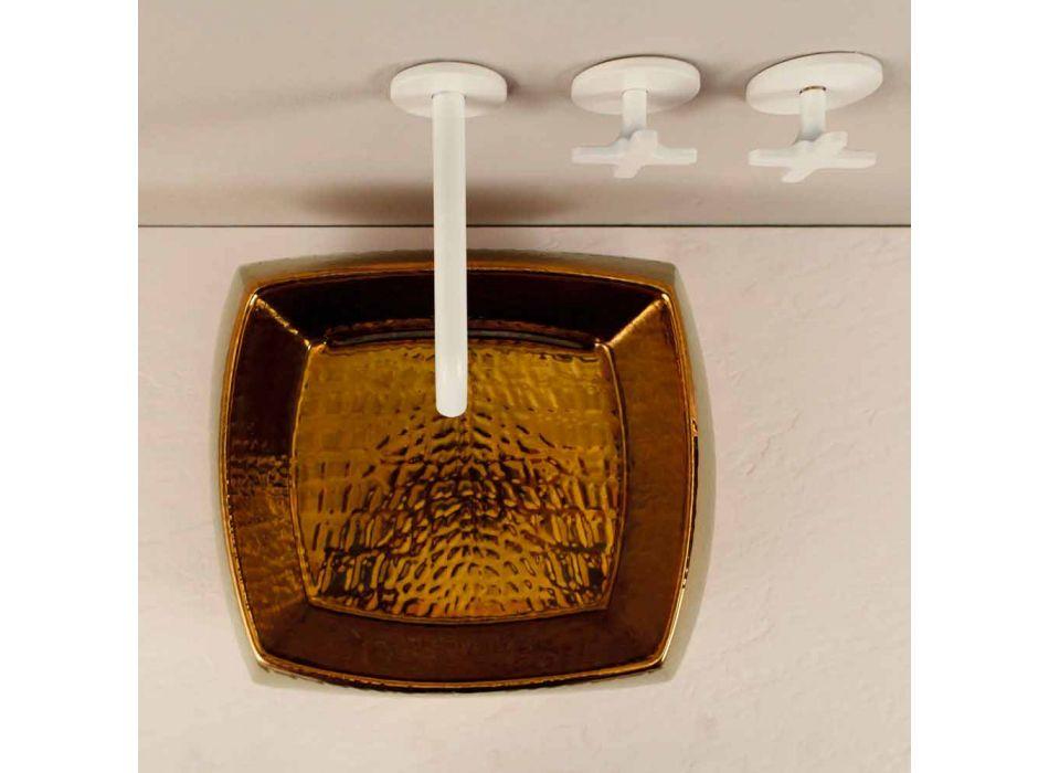 Designer washbasin in bronze ceramic made in Italy Simon