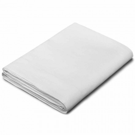 King Size, Single and Full-Size Sheets in White Linen Made in Italy - Blessy