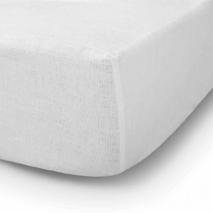 Double, Single or Full-size Bed Fitted Sheet in Linen - Copertino