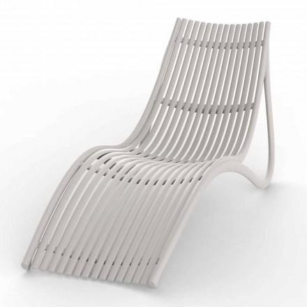 Outdoor Chaise Longue in White or Ecru Design, 4 Pieces - Ibiza by Vondom