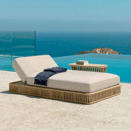 Cliff modern reclining lounger by Talenti, design by Palomba
