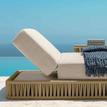Modern reclining outdoor lounger Cliff Talenti, design Palomba