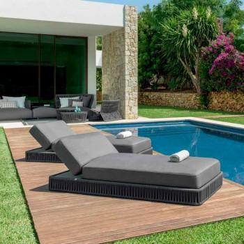 Cliff Talenti reclining outdoor sunbed, Palomba design