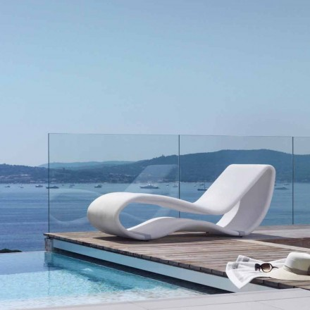 Modern design white outdoor sunbed Breez 2.0