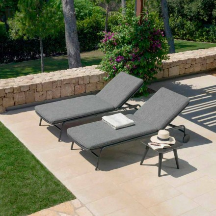 Moon Alu garden lounger by Talenti with reclining wheels and stackable