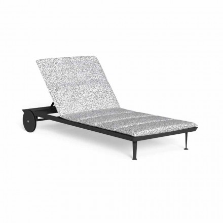 Reclining Garden Chaise Longue with Luxury Wheels - Cruise Alu by Talenti