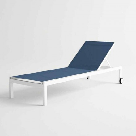 Modern Design Aluminum Sun Lounger with Wheels - Danubio2