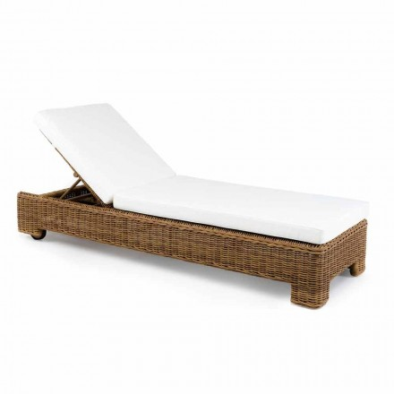 Single or Double Outdoor Sun Lounger in Luxury Synthetic Rattan - Yves