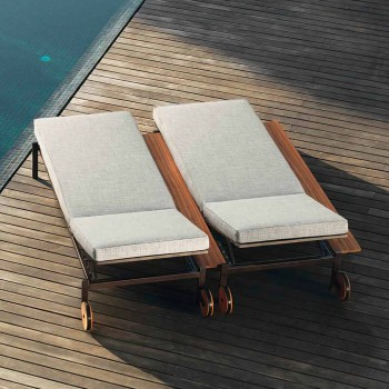 Casilda Talenti design upholstered sunbed with wheels