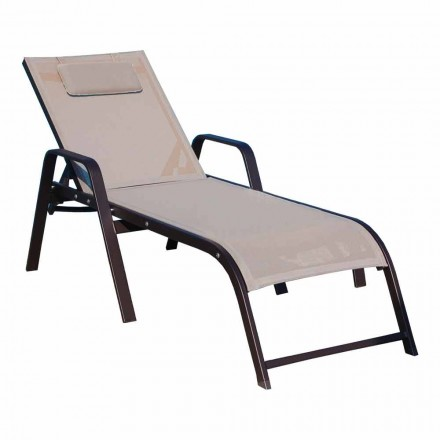 High Quality Aluminum Sunbed Made in Italy, 2 Pieces - Dexter