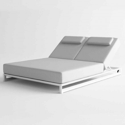 Outdoor Sun Lounger in Aluminum and Fabric - Gioacchino