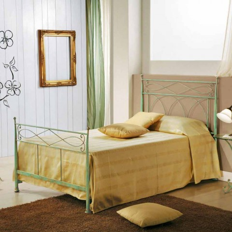 finest selection ee680 d2ea3 Wrought iron small double bed Gabriella, classic design, made in Italy