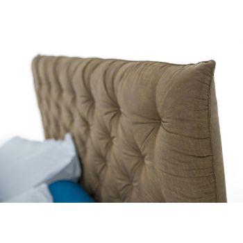 Bed Container Double Padded Fabric or Faux Leather Made in Italy - Euro