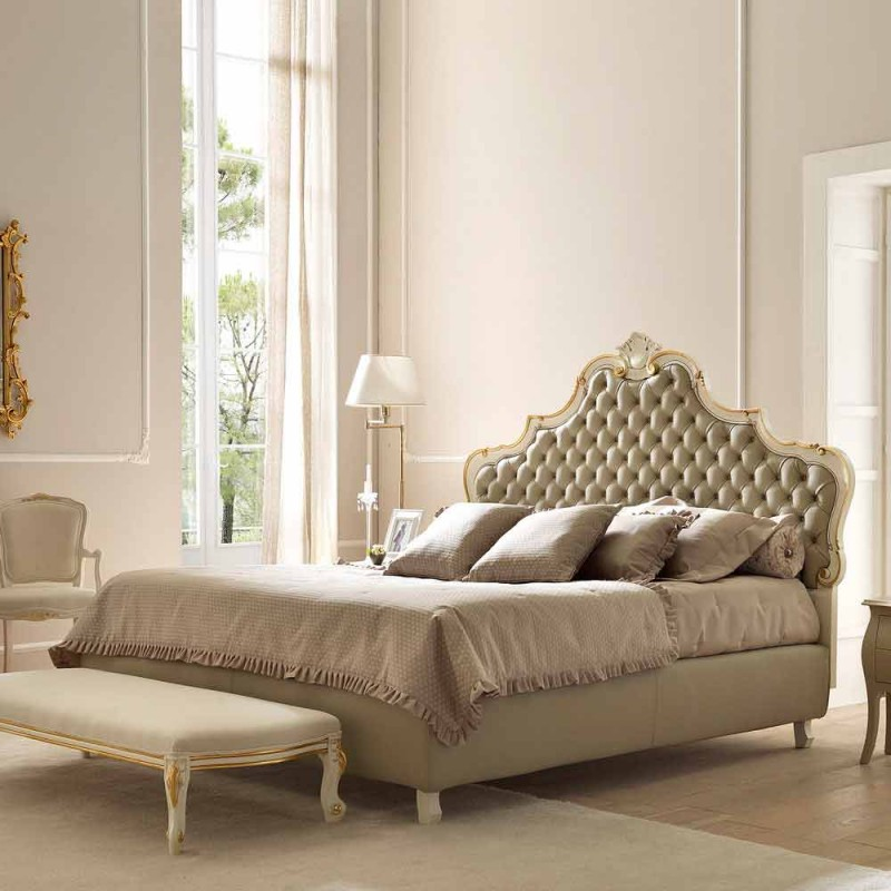 Classic double bed, without storage, Chantal by Bolzan