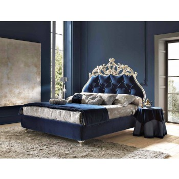 Classic double bed, without storage, Velvet by Bolzan