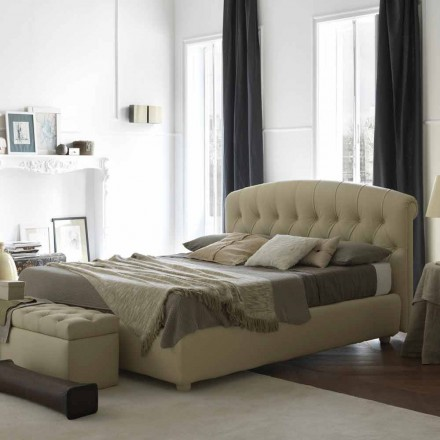 Double bed with bed container, classic design, Rennes by Bolzan