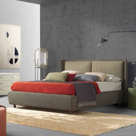 Double bed with bed container, modern design, Kate by Bolzan