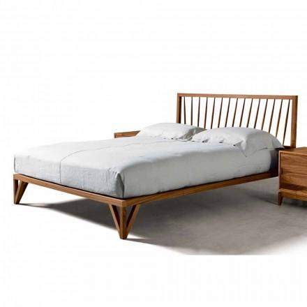 Modern design bed Alain, solid walnut bed structure, 160x200 cm