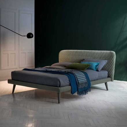 Double bed, without container, contemporary design Corolle by Bolzan