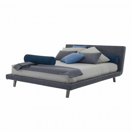 High Quality Modern Upholstered Double Bed Made in Italy - Yurgen