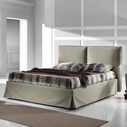 Padded double bed 160x190 / 200 cm with Nice lift box