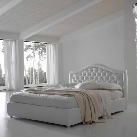 Double bed with container, classic design Capri by Bolzan