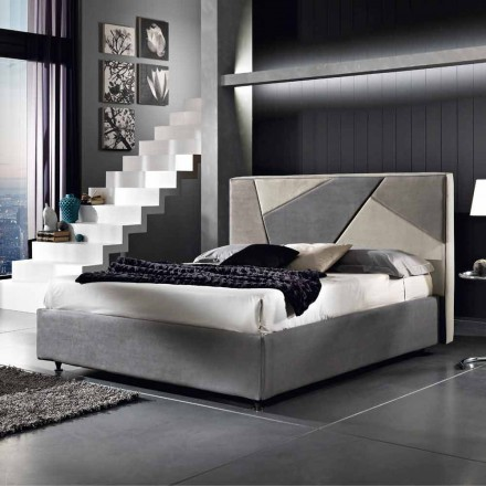 Upholstered double bed with lifting container 160x190 / 200cm Mia
