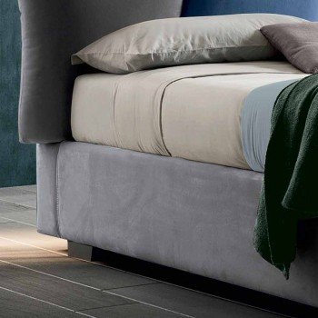 Padded Double Bed with Fabric Storage - Belle