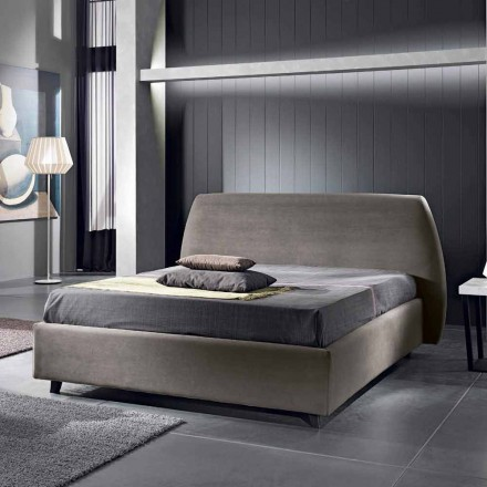 Padded double bed with modern container 160x190 / 200 Reby