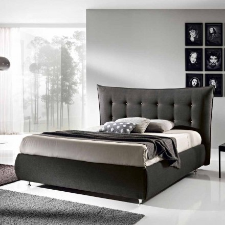 Upholstered double bed with lifting container 160x190 / 200cm Aida