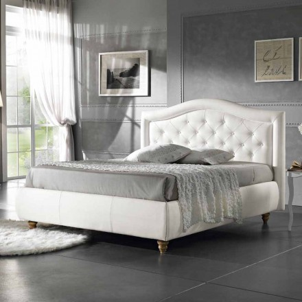 Imitation leather upholstered double bed with box 160x190 / 200 cm Agly
