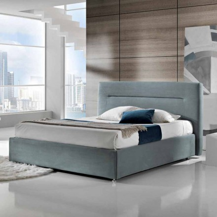 Modern upholstered double bed with 160x190 / 200cm Sun box