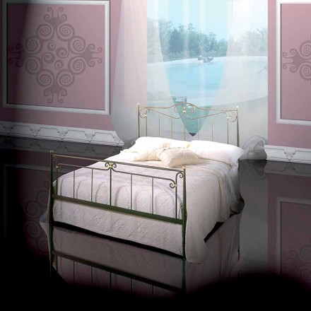 Wrought-iron double bed Auriga