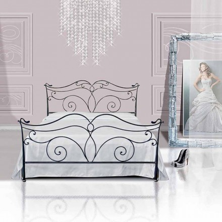 Wrought-iron double bed Febo
