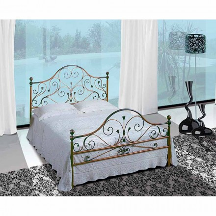 Wrought-iron double bed Fenice