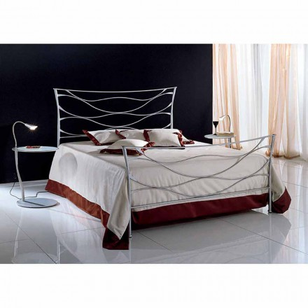 Wrought-iron double bed Idra