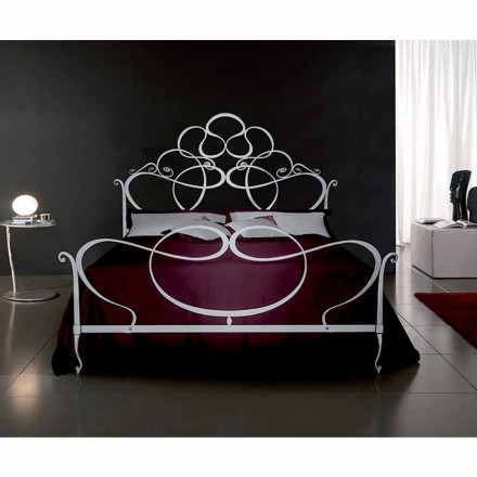 Wrought-iron double bed Malva